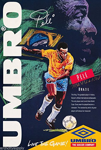 RhythmHound POSTER - Pele Poster Soccer Football by RhythmHound