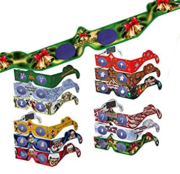 Amazon.com: 22 Pairs 3D Christmas and New Years Glasses - 13 ...