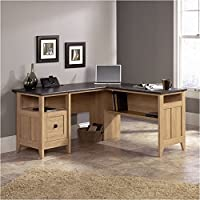 Pemberly Row L-Desk in Dover Oak