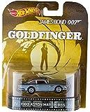 "1963 Aston Martin DB5 James Bond 007 ""GoldFinger"" Hot Wheels 2015 Retro Series 1/64 Die Cast Vehicle"