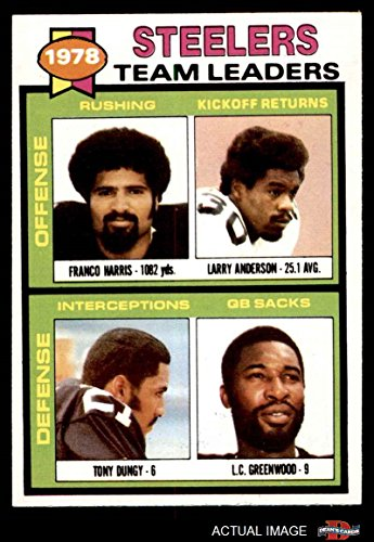 - 1979 Topps # 19 Steelers Leaders & Checklist Franco Harris/Larry Anderson/Tony Dungy/L.C. Greenwood Pittsburgh Steelers (Football Card) Dean's Cards 6 - EX/MT Steelers