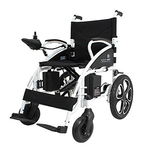 FASHION Electric Wheelchair Foldable Lightweight Electric Power Wheelchairs for adults (Black)