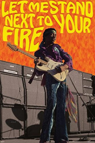 (Jimi Hendrix Next to Your Fire Rock Roll Electric Guitarist Singer Songwriter Music Poster 24x36 inch)