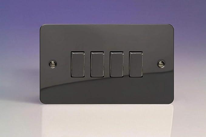 Varilight 10 A Intermédiaire Interrupteur Iridium Noir
