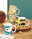 Set of 4 Peanuts Charlie Brown Coffee Mugs - Lucy