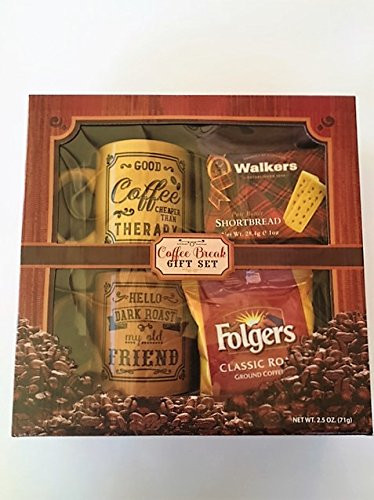 Coffee Break Gift Set Coffee Mug Folgers Shortbread Cookies