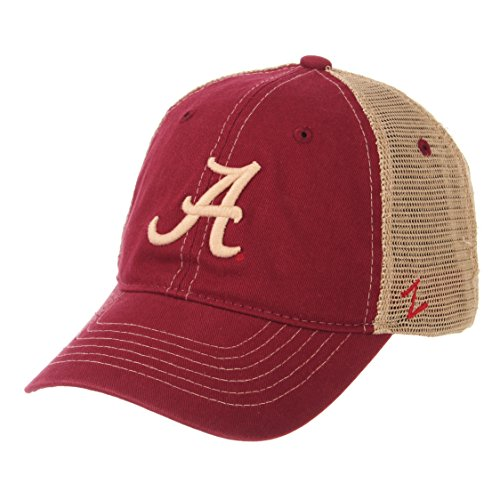 Zephyr NCAA Alabama Crimson Tide Men's Institution Relaxed Cap, Adjustable, Cardinal (Alabama Cap)