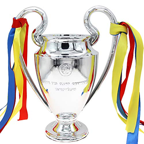 H&W 2019 Electroplate UEFA Champions League Cup Replica, Soccer Trophy, 32cm/12.6inch Tall (1:2), Model Statue, for Great Soccer Fans(HH9-D2)