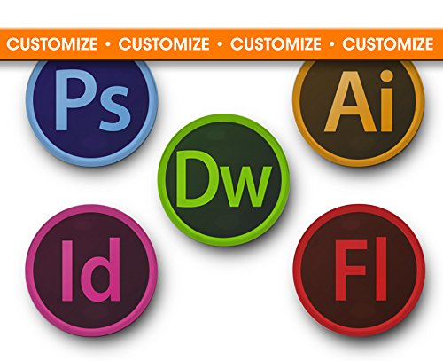 amazon com customizable adobe cs6 logos set of 5 magnets