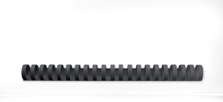 GBC 4028182 - Canutillo plástico DIN A4 21 anillas 25 mm (caja 50) color negro
