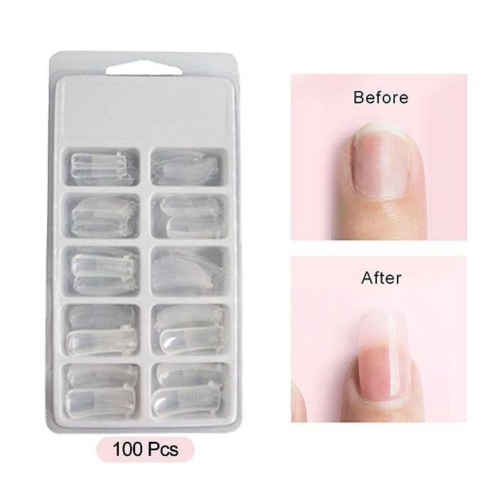 Kobwa - 6 pinzas de uñas de gel de polietileno para extensiones de uñas acrílicas y pinturas híbridas, gel de uñas UV, kit de arte para uñas - Espátula de ...