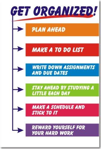 Get Organized Classroom Motivational Poster