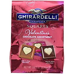 Ghirardelli Valentines Day Chocolate Assortment, Milk Chocolate, 18.3 Ounce
