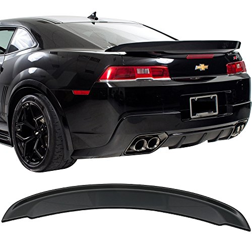 (Pre-painted Trunk Spoiler Fits 2014-2015 Chevy Camaro | Factory Style ABS Painted#WA810T Ashen Gray Metallic Boot Lip Rear Spoiler Wing Add On Deck Lid Other Color Available By IKON)