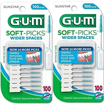 GUM Soft-Picks For Wider Spaces, 100 ea 2 Pack (200 Wider Picks)