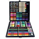 JIANGXIUQIN Artist Art Drawing Set, 258 Super Luxury Painting Big Gift - Box Watercolor, Oil Painting, Watercolor Pen, Coloring Card, Marker Pen, Etc. Gifts for Children and Children.