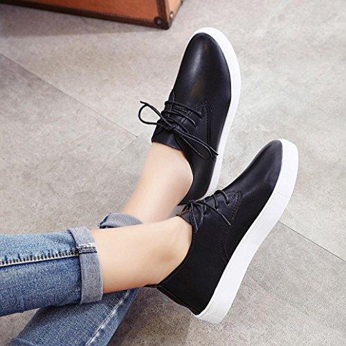 Moda Zapatos Suelas Mujer cómodas casuales Plataformas Negro Zapatos fasloyu Zapatos Zapatos Paxw5wpq