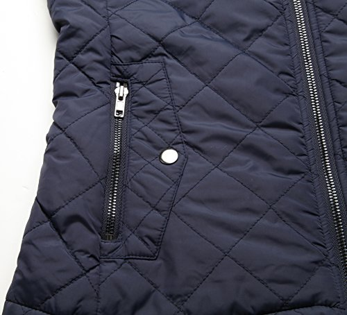Waistcoat Women Puffer Deep Collar Blue Up Quilted Padded Gilets Vest Coat Ladies Zip Jackets Stand Sleeveless Pockets Lightweight Uqwcpfwd