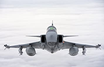 Amazon com: A Hungarian Air Force JAS-39 Gripen involved in NATO