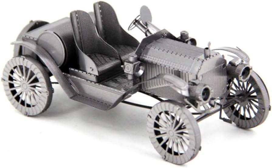 QJXSAN 3D Modelo de Kit de Metal for Adultos Rompecabezas DIY montado Modelo Adulto educativos Coche de Juguete Antiguo