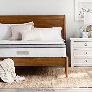 WEEKENDER 10 Inch Hybrid Mattress - Memory Foam and Motion Isolating Springs - 10 Year Warranty - Queen