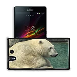 Animals Polar Bears in Rock Lonely Sony Xperia Z 5.0 C6603 C6602 Snap Cover Premium Aluminium Design Back Plate Case Customized Made to Order Support Ready 5 4/8 inch (140mm) x 2 7/8 inch (73mm) x 7/16 inch (11mm) MSD Sony Xperia Z cover Professional Meta