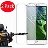 "2 Pack - Acer Liquid Zest Plus Tempered Glass, FoneExpert® Tempered Glass Crystal Clear LCD Screen Protector Guard & Polishing Cloth For Acer Liquid Zest Plus (5.5"")"