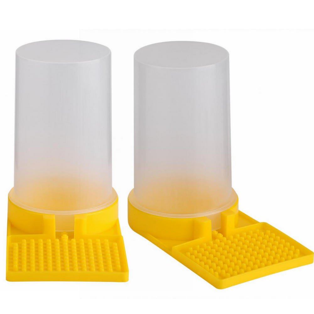 2Pcs Bee Feeder Beehive Drinking Bowl Beekeeping Equipment Feed Tool Yosoo