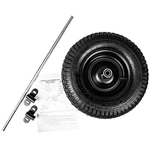 A.M. Leonard Wheelbarrow Conversion Kit, Pneumatic Tire (Wide Turf Tread, 5.5-inches Wide)
