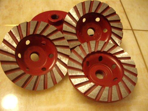 4-Inch Diamond Turbo Grinding Cup Wheel Coarse Grit for Concrete / Granite Floor for DAMO