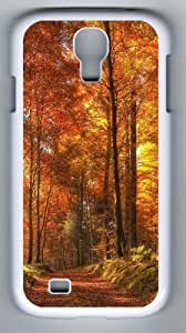 Samsung Galaxy S4 Case, Samsung Galaxy S4 Cases - Path In The Forest Designer PC Case Cover For Samsung Galaxy S4 / SIV / I9500 - White