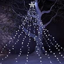 """Star Lights 8 Modes with 12"""" Tree-Top Star and 9 Stripes Fairy Lights Including 344 LEDs, Perfect Outdoor Decoration for New Year Wedding Party"""