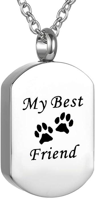 Animal Ashes Traditional Cat Pet Memorial Jewelry Urn Pendant \u2013 Keepsake Paw Print Series Pet Memorial Cremation Jewelry for Dog