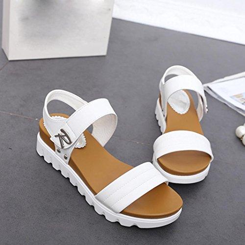 PlataformaCulater Mujer Cuña Zapatos Plástico Sandalias Verano D2I9YWEH