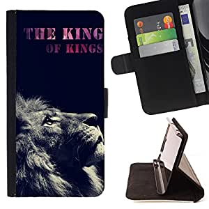 Devil Case- Estilo PU billetera de cuero del soporte del tir¨®n [solapa de cierre] Cubierta FOR Samsung Galaxy S4 Mini i9190 I9192- King Space Head Face