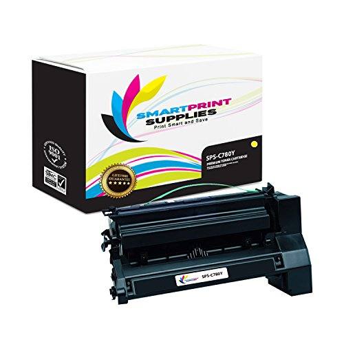 Smart Print Supplies C782X1YG Yellow Premium Lexmark C770 C772 C780 C782 X780 X782 Compatible Toner Cartridge Replacement (15,000 (C782 Yellow Print Cartridge)