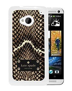 Unique Designed Kate Spade Cover Case For HTC ONE M7 White Phone Case 272