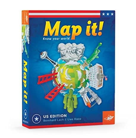 Amazoncom Map It USA Geography Game Toys Games - Map of us geography