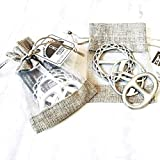 Hand Cast Fine Pewter Scarf Ring Scarf Jewelry Gift Set