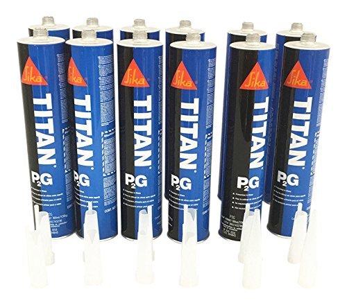 box-of-12-auto-glass-sealant-windshield-urethane-glue-sika-titan-primerless-adhesive