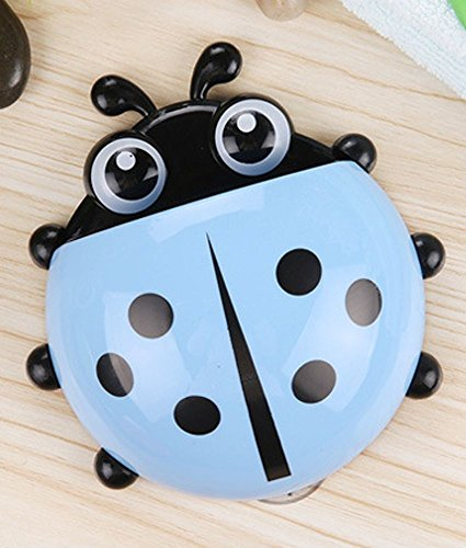 Cute Family Daily Necessities Ladybug Suction Tooth Brush Holder Stander Decor U  Blue
