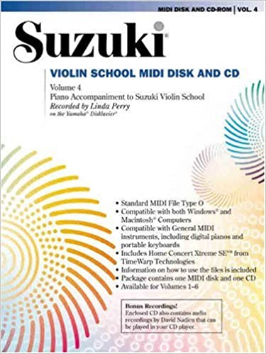 Amazon com: Suzuki Violin School, Vol 4: MIDI Disk & CD-ROM