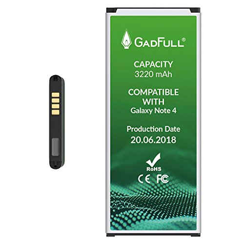 GadFull Battery for Samsung Galaxy Note 4 |Production Date