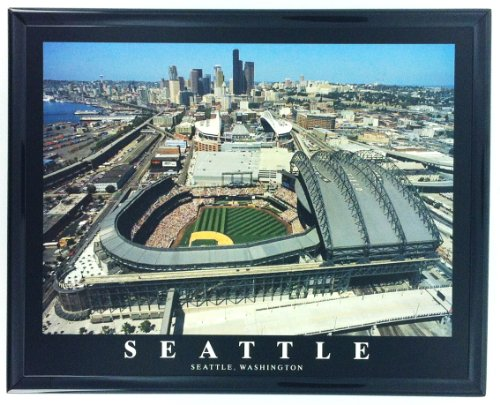 - Seattle Mariners Safeco Field Framed Aerial Photo F7528A
