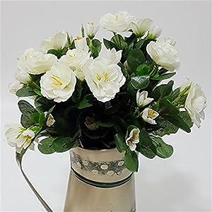 JJH 1 Branch Silk Azalea Tabletop Flower Artificial Flowers 2