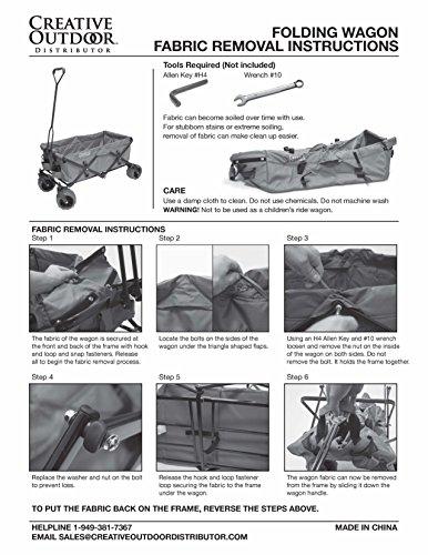 Creative Outdoor Distributor All-Terrain Folding SPORTS Team Wagon, (Green-Yellow/GreenWheels) 900555 - Multipurpose Cart for Gardening, Camping, Beach Trips, and Travelling by Creative Outdoor Distributor (Image #5)