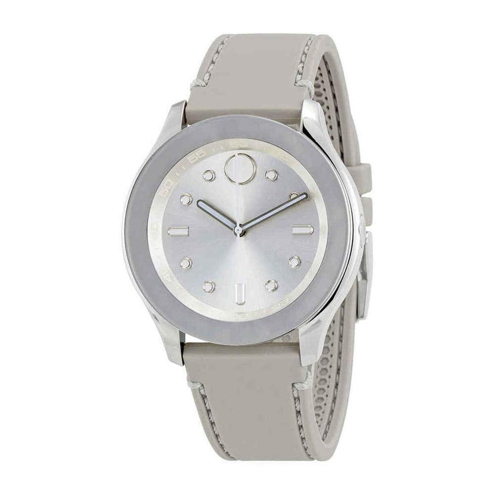 Movado Bold Silver Dial Grey Silicone Ladies Watch 3600412