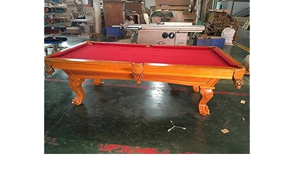 Kunibert 8 FT. Mesa de Billar Z20591 Billar Billar Modelo Winston Color: Aliso paño Rojo Billar con 3 cm Fuerte Pizarra Dimensiones: 254 x 142: Amazon.es: Juguetes y juegos