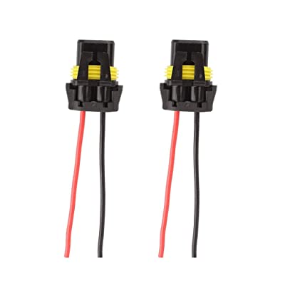 9005 9006 Female Adapter Wiring Harness Sockets For Headlights Fog Lights (Pack of 2): Automotive