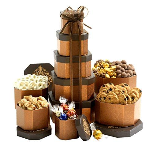 Broadway Basketeers Shiva Kosher Gift Tower of Sweets